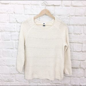 NWT old navy textured cotton sweater