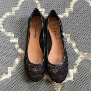 Lucky Brand Shoes - LOWEST! Lucky Brand Crochet Flats