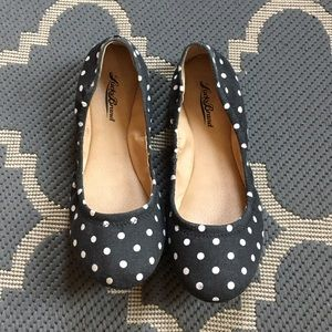 Lucky Brand Shoes - LOWEST! Lucky Brand Black Polka Dot Flats