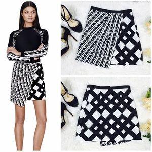 Peter Pilotto for Target Dresses & Skirts - Black & White Asymmetrical Geometric Design Skirt