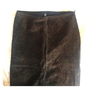 Suede Maxi Skirt - Laundry by Shelli Segal