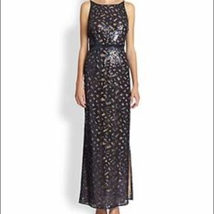 Aidan Mattox Sequined Illusion Dress Size 6