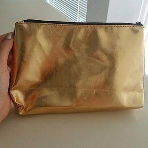 Sephora Bags - ~SOLD~ Sephora Golden Makeup Bag