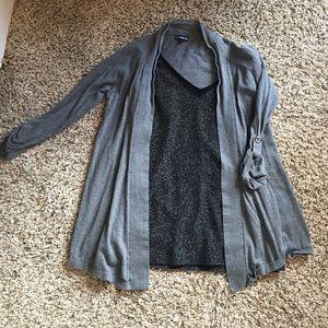 Express Gray Cotton Cardigan Sweater sz: S