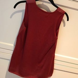 Zara Tops - Zara knit top red with faux leather in front.
