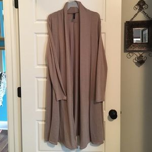 Rags and Couture Sweaters - Rags & Couture Full-Length Body Beige Cardigan