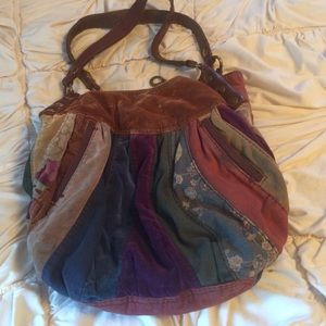 Lucky Brand patch work boho bag