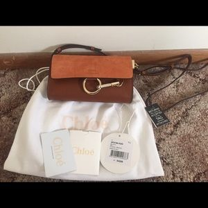 Chloe Bags - Chloe Faye Mini leather and suede shoulder bag 7332c1d978b5