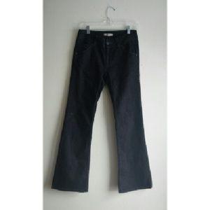CABI Anthropologie Black Flared Snap Pocket Jeans