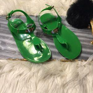 KORS Michael Kors Shoes - Michael Kors Glossy Rubber Sandals