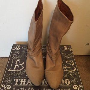 "Vintage ""FRYE"" cream boots"