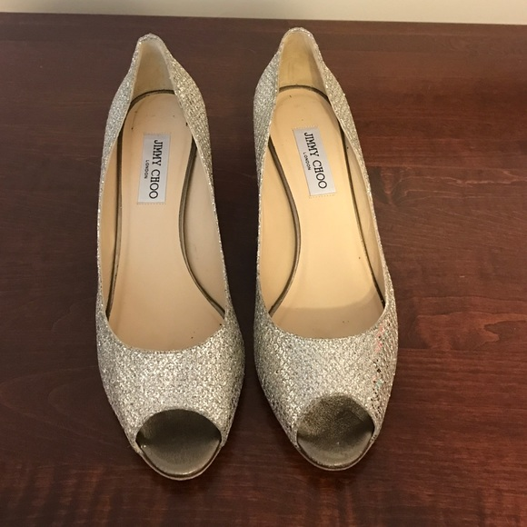 887bc46a9d7 Jimmy Choo Shoes - Jimmy Choo Isabel. Champagne Glitter. 41.