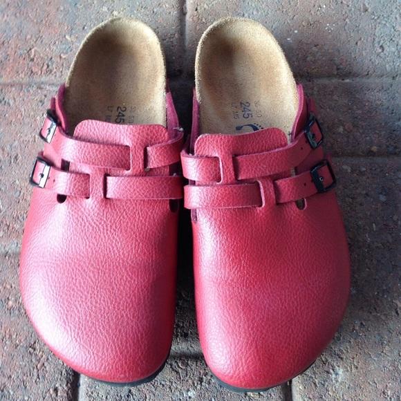 e813450b2ead Birkenstock Shoes - Red Camden mule Birki Clogs
