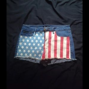 Forever 21 High Waisted American 28 Denim Shorts