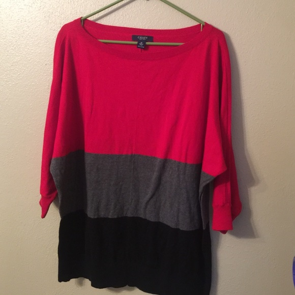 80% off Chaps Sweaters - Chaps colorblock sweater 1X worn once ...