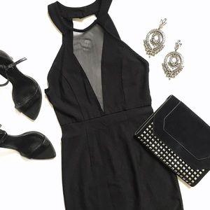 a'gaci Dresses & Skirts - 🐰NWOT Black Open Back Mesh Boydcon Dress
