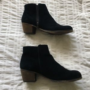Aldo black suede ankle boots