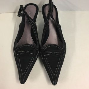 Highlights size 7 slingback pointy toe shoes
