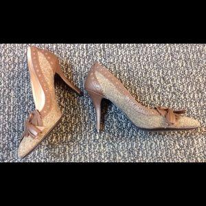 Audrey Brooke Shoes - Brown Tweed Oxford Pump💞💝NWOT
