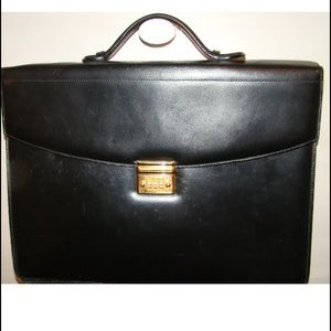 authenic MONT BLANC calfskin leather attaché $3200