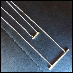Gorjana Jewelry - Gorjana Silver Double Bar Necklace!