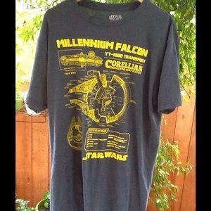 Star Wars Other - Men's Star Wars Millennium Falcom T Shirt Medium