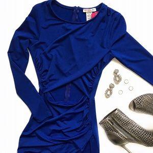 a'gaci Dresses & Skirts - NWT Blue Cutout Asymmetrical Bodycon Dress