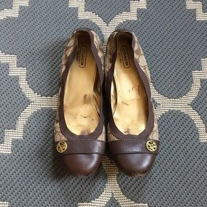 Shoes - FINAL! Coach Monogram Flats