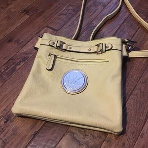Authentic yellow Michael Kors purse