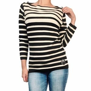 Tory Burch Tops - Tory burch wool striped sweater top