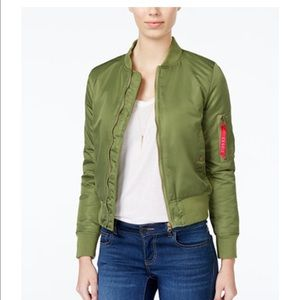 Joe & Elle Jackets & Blazers - Green Bomber Jacket