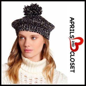 Pom Pom Knit Beret Beanie Hat
