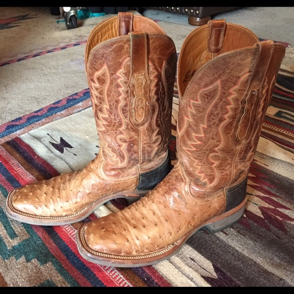 Lucchese Full Quill Square Toe Crepe