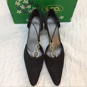 S.R.O. Isabell Black Satin dress shoes💞