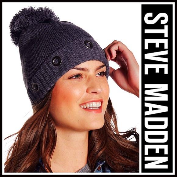 af1654e26a9 ❗1-HOUR SALE❗STEVE MADDEN Pom Pom BEANIE Hat
