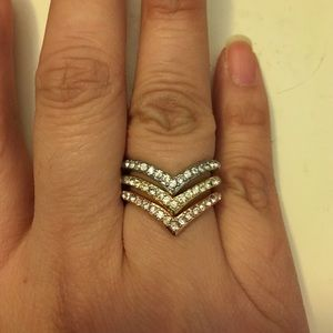 Saks Fifth Avenue Jewelry - 3 Stackable Rings Size 7