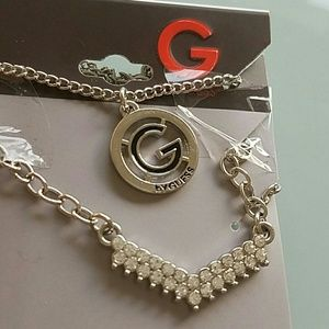 Guess Jewelry - Guess Silver Tassel Layer Necklace