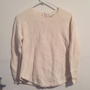 Madewell button-back sweater, size S