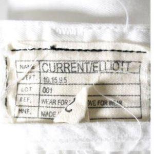 Current/Elliott Jeans - CURRENT ELLIOT WHITE STRAIGHT CROPPED JEANS SZ 26