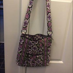 Handbags - Vera Bradley crossbody messenger plum petals