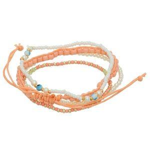 Jewelry - 🌅👉🏼Peach & White Bracelet Set