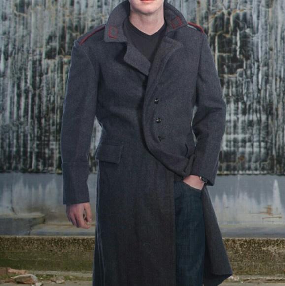 ca0c1ec2fe Vintage Soviet Era Wool Trenchcoat