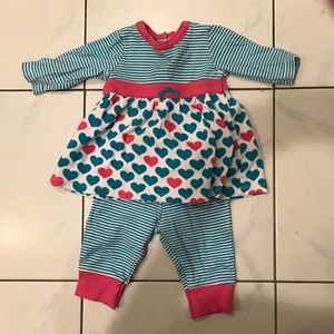 Offspring Other - Pink, Teal and White Baby Outfit
