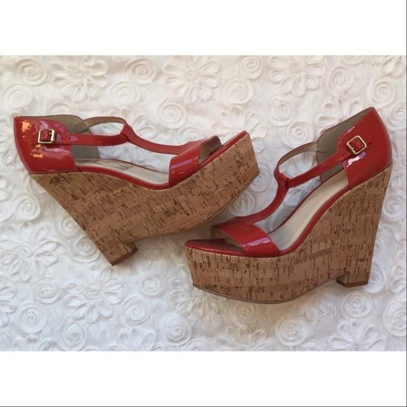 3239da6729728 Elizabeth and James Shoes - Elizabeth   James Platform Cork Wedges SZ 10