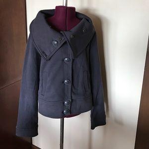 Converse Jackets & Blazers - Converse Gray Jersey Coat Jacket L
