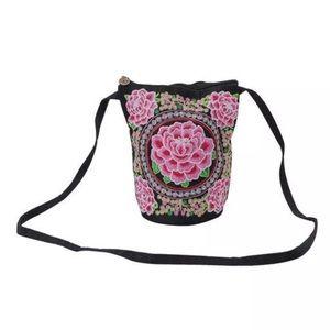 Handbags - ✨ Pink Rose Boho Embroidered Crossbody 😍✨