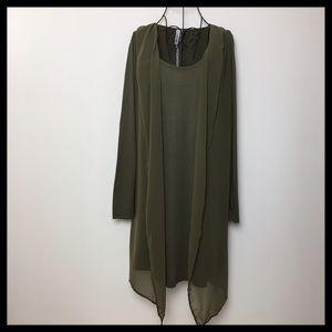 Miilla Clothing Dresses & Skirts - Miilla Long Sleeve Knit Draped Dress