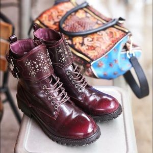 MIA Shoes - Embellished Ankle Combat Boots