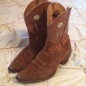 Vintage suede cowboy boots!!