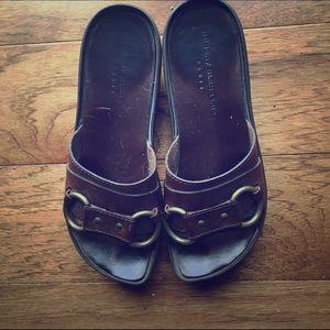 Ann Demeulemeester Shoes - Robert Clergerie Paris leather  wedge sandal 8